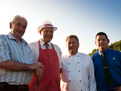 All our food is locally sourced. We know the butcher. We know the farmer.